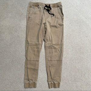 Plugg Tan Khaki Jogger Pants